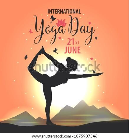 world yoga day vector