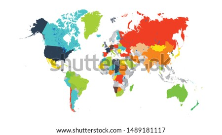 Worldmap without countries name on it