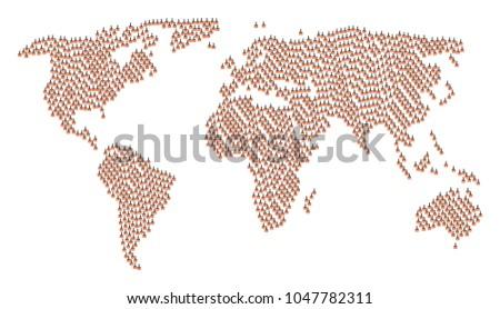 worldwide atlas concept made of