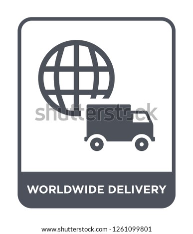 worldwide delivery icon vector on white background, worldwide delivery trendy filled icons from Delivery and logistic collection, worldwide delivery simple element illustration