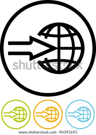 Worldwide delivery - Vector icon isolated on white
