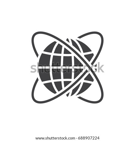 Worldwide icon vector, filled flat sign, solid pictogram isolated on white. Symbol, logo illustration. Pixel perfect vector graphics