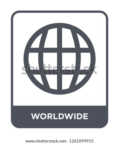 worldwide icon vector on white background, worldwide trendy filled icons from Delivery and logistic collection, worldwide simple element illustration