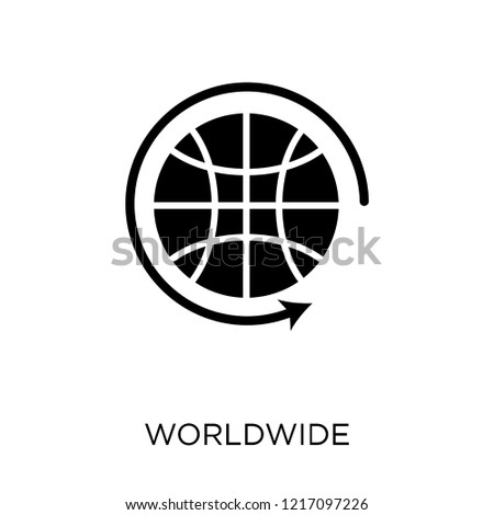Worldwide icon. Worldwide symbol design from Maps and locations collection. Simple element vector illustration on white background.