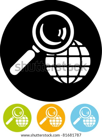 Worldwide search vector icon