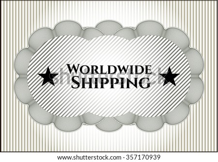 Worldwide Shipping banner or poster