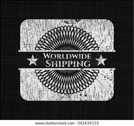 Worldwide Shipping chalk emblem