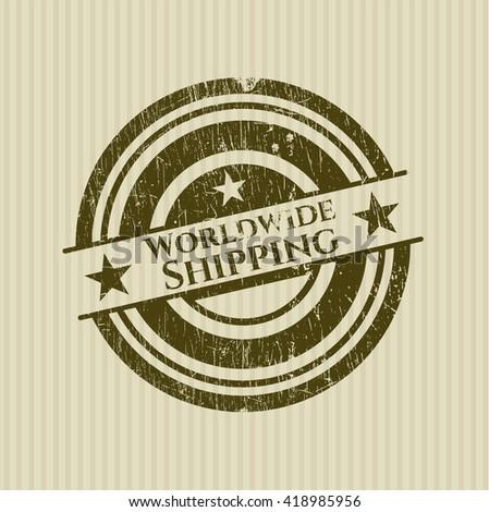 Worldwide Shipping grunge stamp