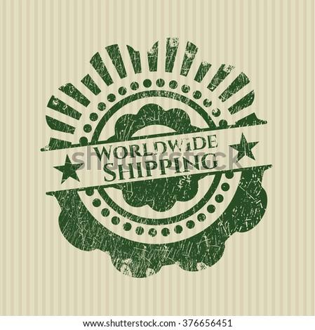Worldwide Shipping grunge style stamp