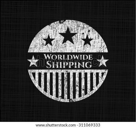 Worldwide Shipping on blackboard
