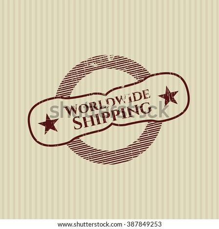 Worldwide Shipping rubber grunge seal