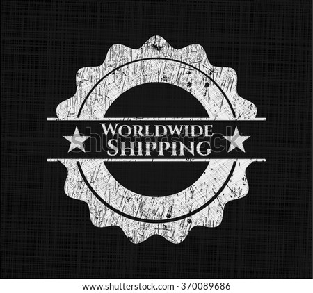 Worldwide Shipping with chalkboard texture