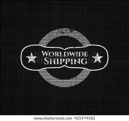 Worldwide Shipping written on a blackboard