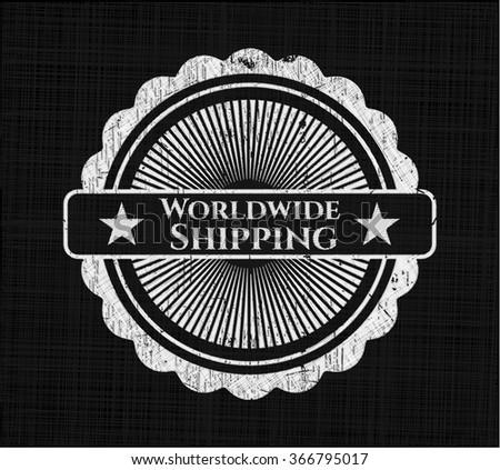 Worldwide Shipping written on a chalkboard