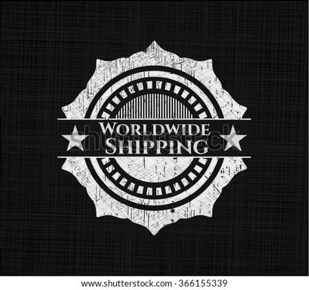 Worldwide Shipping written with chalkboard texture