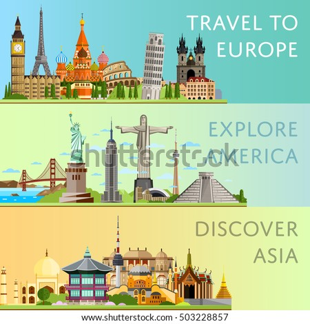 worldwide travel flyers with