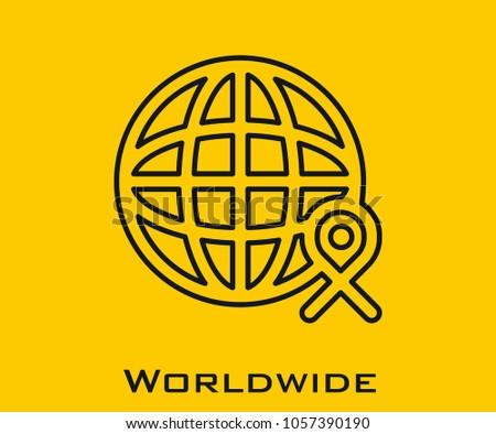 Worldwide vector icon