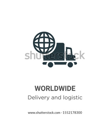 Worldwide vector icon on white background. Flat vector worldwide icon symbol sign from modern delivery and logistic collection for mobile concept and web apps design.