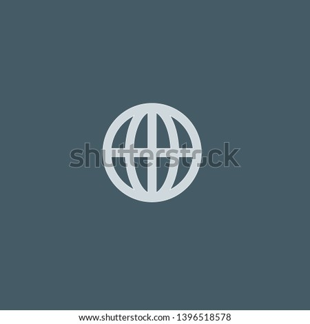 Worldwide vector icon. Worldwide concept stroke symbol design. Thin graphic elements vector illustration, outline pattern for your web site design, logo, UI. EPS 10.