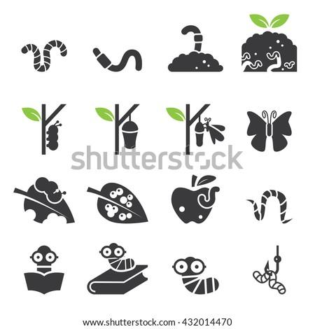worm icon set
