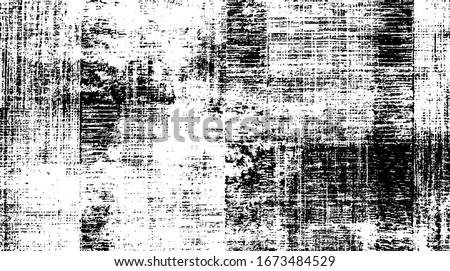 Worn down wallpaper pattern design. Broken plaster and grunge damask effect. Distressed overlay texture design. Vector illustration. Eps10.