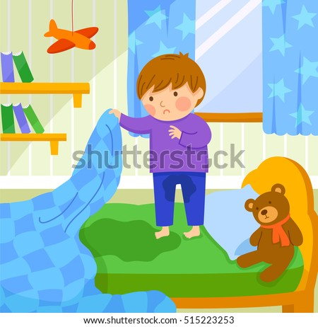 Shutterstock worried boy finds out he wet the bed