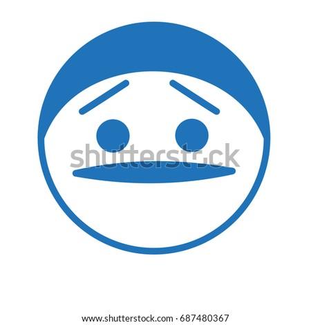 worried or stoned thug emoji