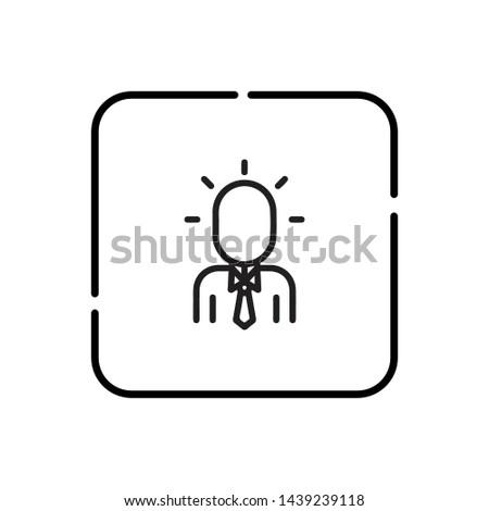 Worry man, worry symbol vector icon