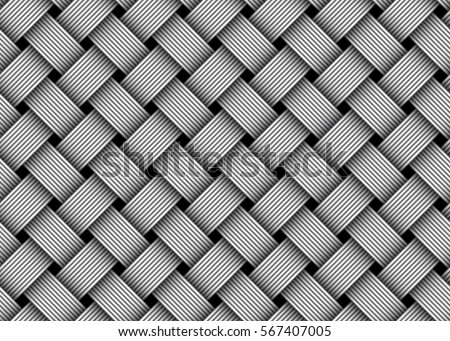 Woven fiber seamless pattern. Vector Illustration