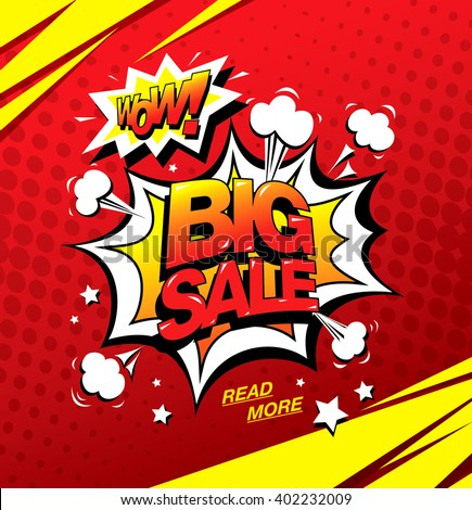 wow  big sale banner template