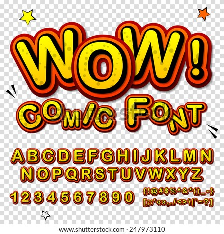 wow creative high detail font
