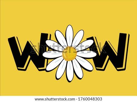 wow daisy vector hand drawn design boom daisy flower hand drawn vector  daisy hand drawndaisy flower vector design t shirt stationary fashion design pattern coral motivational inspirational optimist
