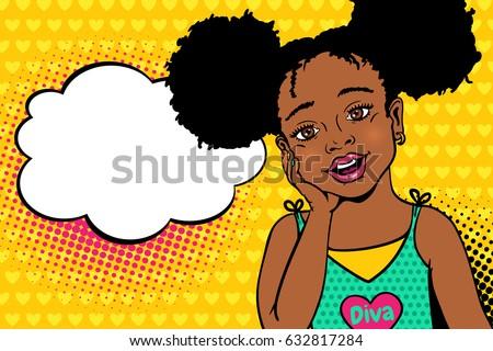 wow pop art kids face happy