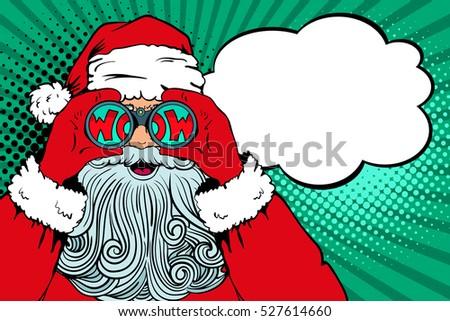 wow pop art santa claus with...