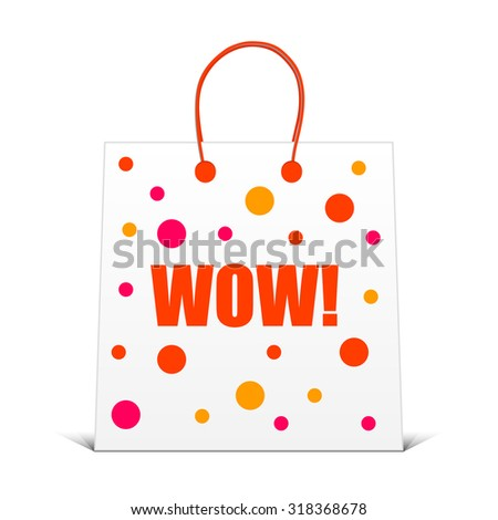 wow sale paper bag colorful