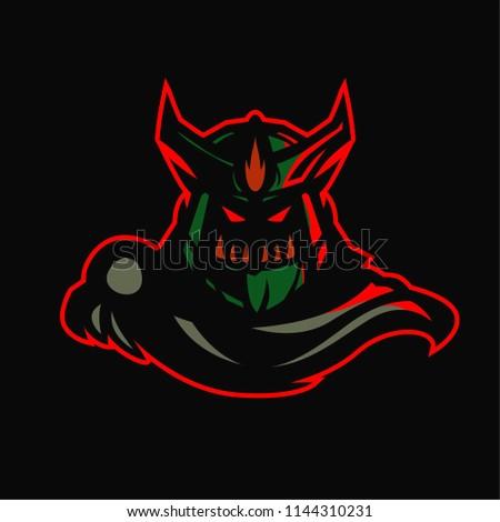 wraith king esport logo template