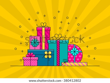 Free gift boxes with bows and ribbons vector download free wrapped gift boxes vector isolated cartoon colorful gift box collection negle Gallery