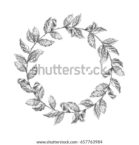 wreath from coffee beans and