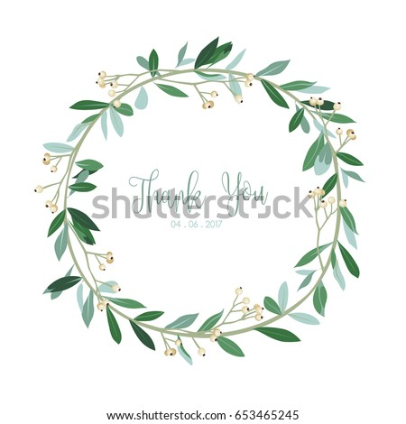 wreath of flowers with white
