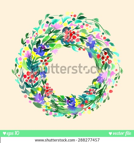 wreath of forest flowers