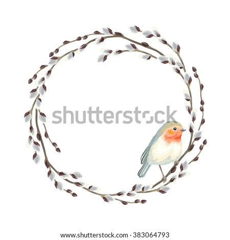 wreath of willow branches and