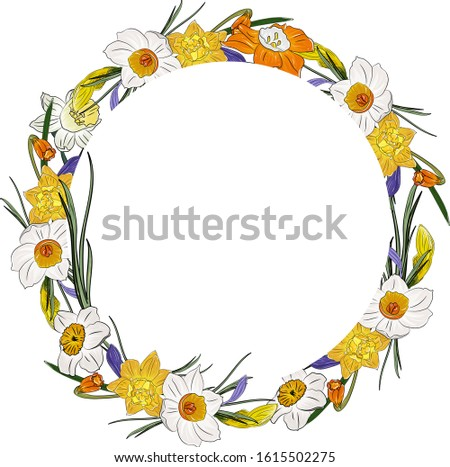 wreath  round frame with
