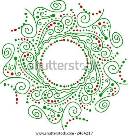 stock vector : Wreath Tattoo Design