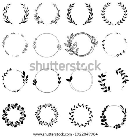 Wreath vector. wedding wreath illustration sign or symbol.