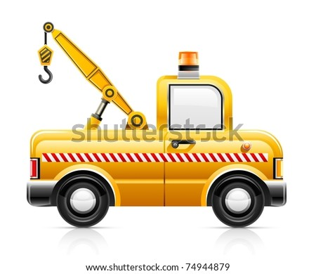 wrecker car service vector illustration isolated on white background