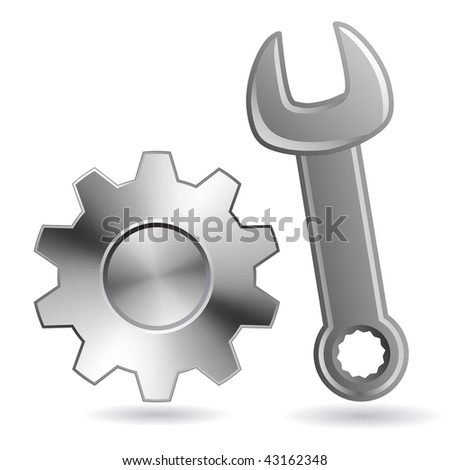 wrench and gear