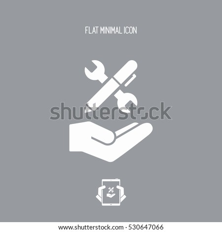 Wrench and pen - Design project icon