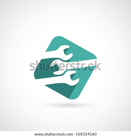Wrench symbol - vector illustration