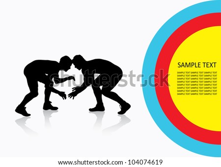 Wrestling background - vector illustration