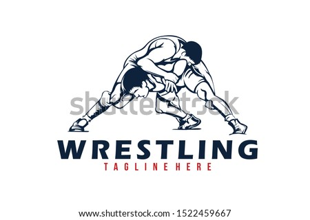wrestling logo icon vector isolated
